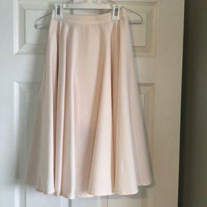 Women's LULU'S high waisted pale blush pink skirt